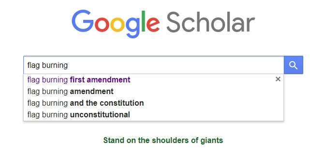 Google Flag Burning