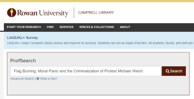 Prof Search Criminalization of Protest