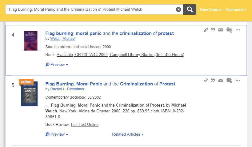 Prof Search Results